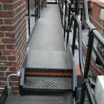 Walkway step-over