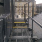 Walkway on slate roof conservation colour