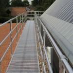 Walkway over green roof