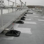 Walkway on flat roof