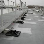 Walkway on flat roof