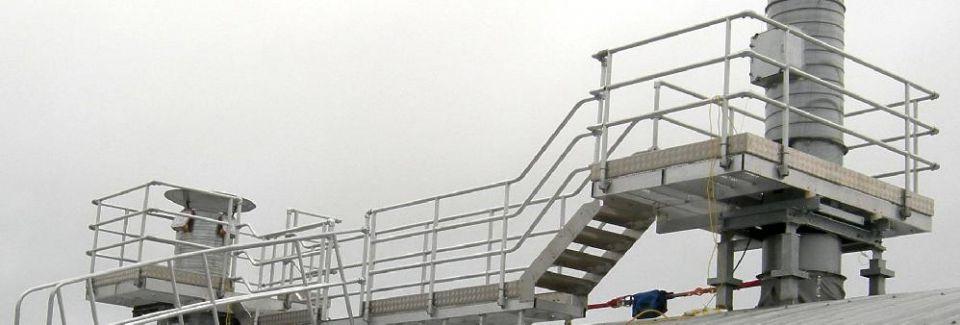 Roof duct access platform